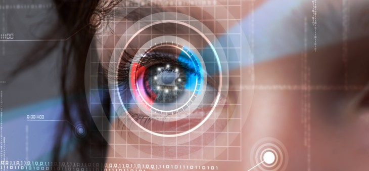 Futuristic picture of a eye