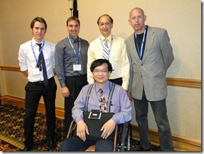 The GOV team from left to right is Lachlan Scott-Hoy, Charl Laäs, Chris Eksteen, Hal Ostrom and in front Arthur Tung.