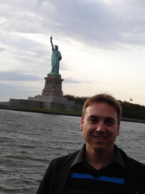 Charl with Lady Liberty