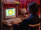 Child using the Eye Read software to improve reading skills