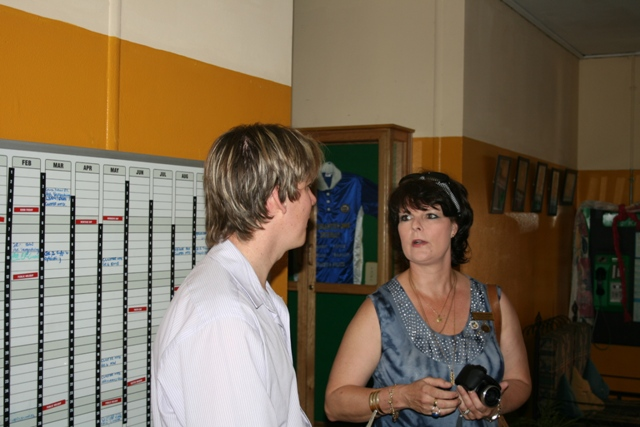 Fran from Rotary Durbanville was keeping an eye on activities to make sure everyone was happy.