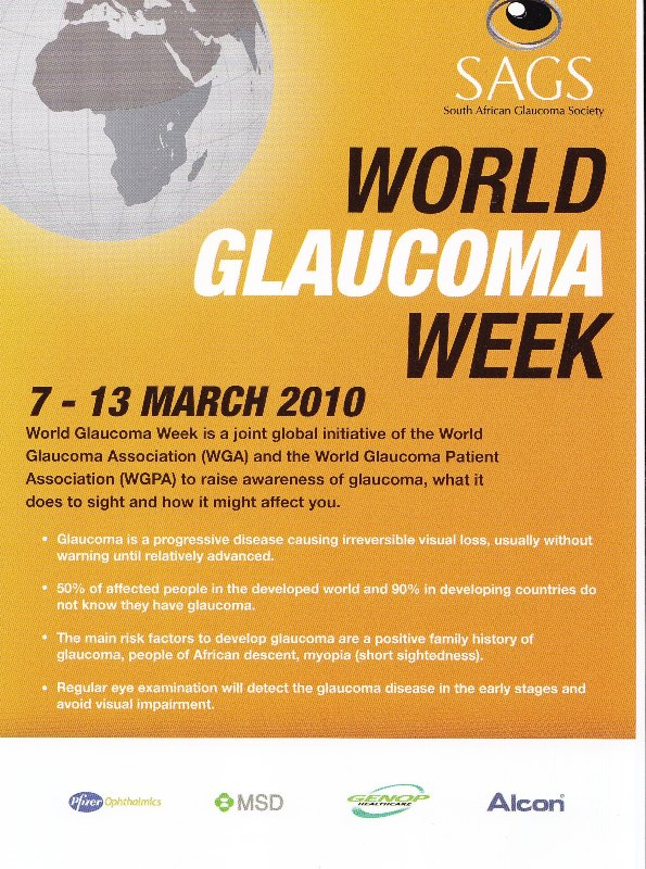 Poster on Glaucoma week