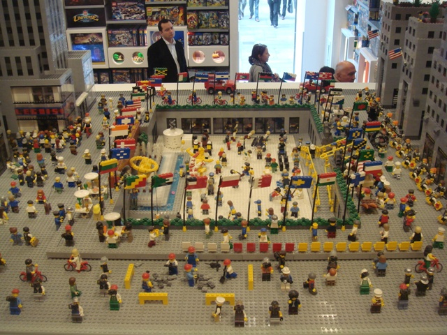 Lego representation of Rockefeller Centre