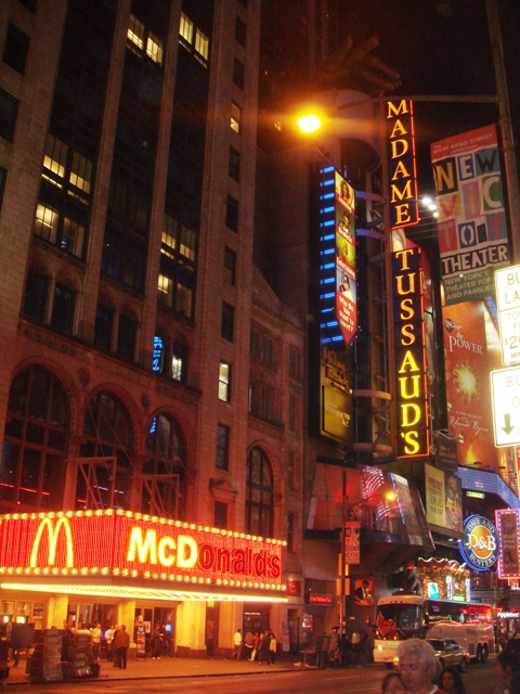 Madame Tussaud and McDonalds in New York