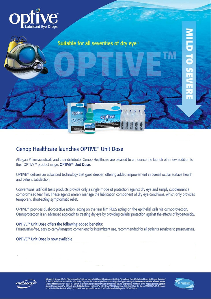 Optive single dose units