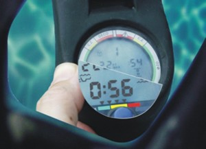 Reading the dive guages with stick on reading lenses
