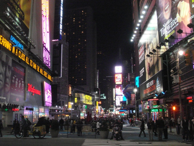 Times Square on a Sunday Night