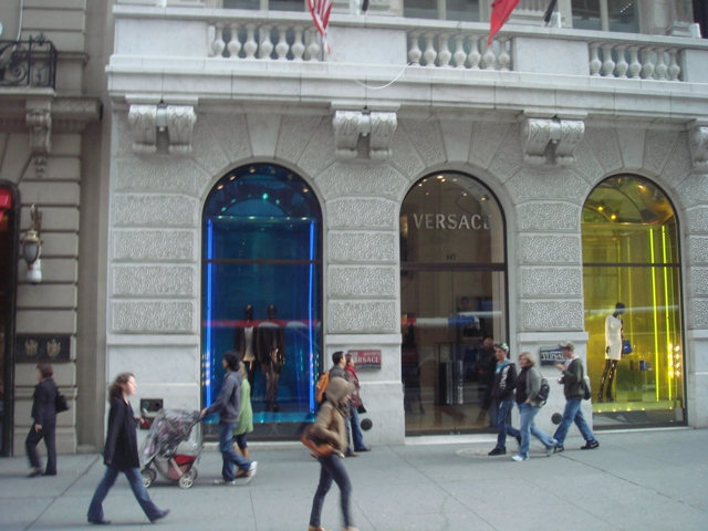 Versace shop in Manhattan, NewYork