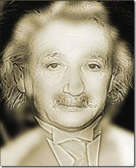 In this hybrid image the high spatial frequency picture of Albert Einstein is seen close up. From a far distance the low spatial frequency image of Marilyn Manroe is seen.