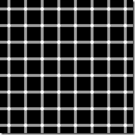 Black spots can be seen in the grid when in reality they don't exist