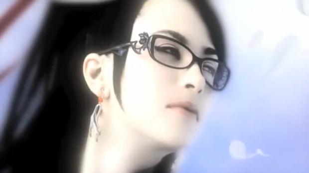 Bayonetta female character wearing fashion eyewear