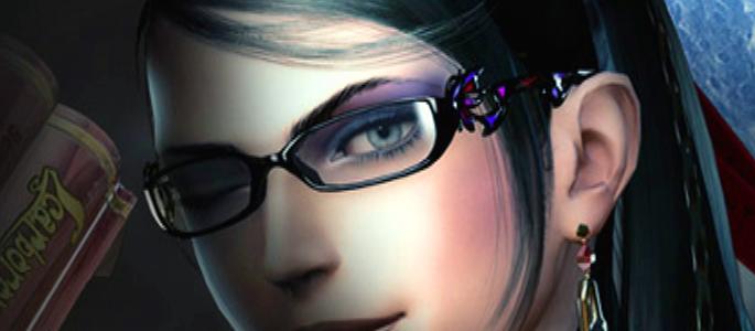 Bayonetta female character wearing glasses