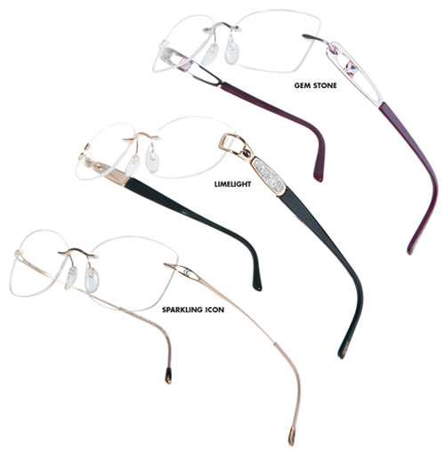 Silhouette eyewear models from the Crystal Collection