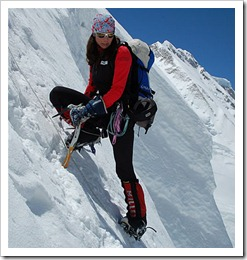 Reaching the top of K2 on her fourth attempt, Gerlinde Kaltenbrunner, a 40-year-old Austrian alpinist who resides in Germany, has become the first woman to summit all 14 of the world's 8,000-meter peaks without using supplementary oxygen.