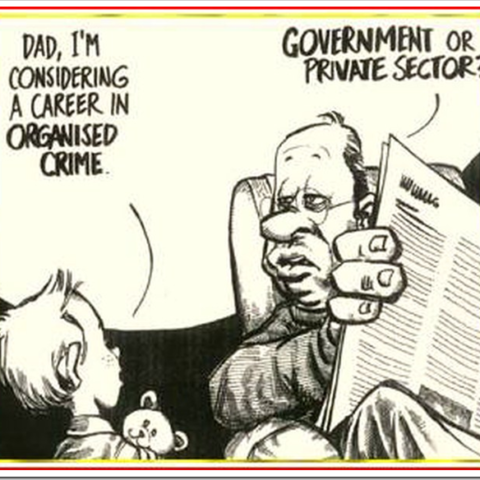 Cartoon about government corruption
