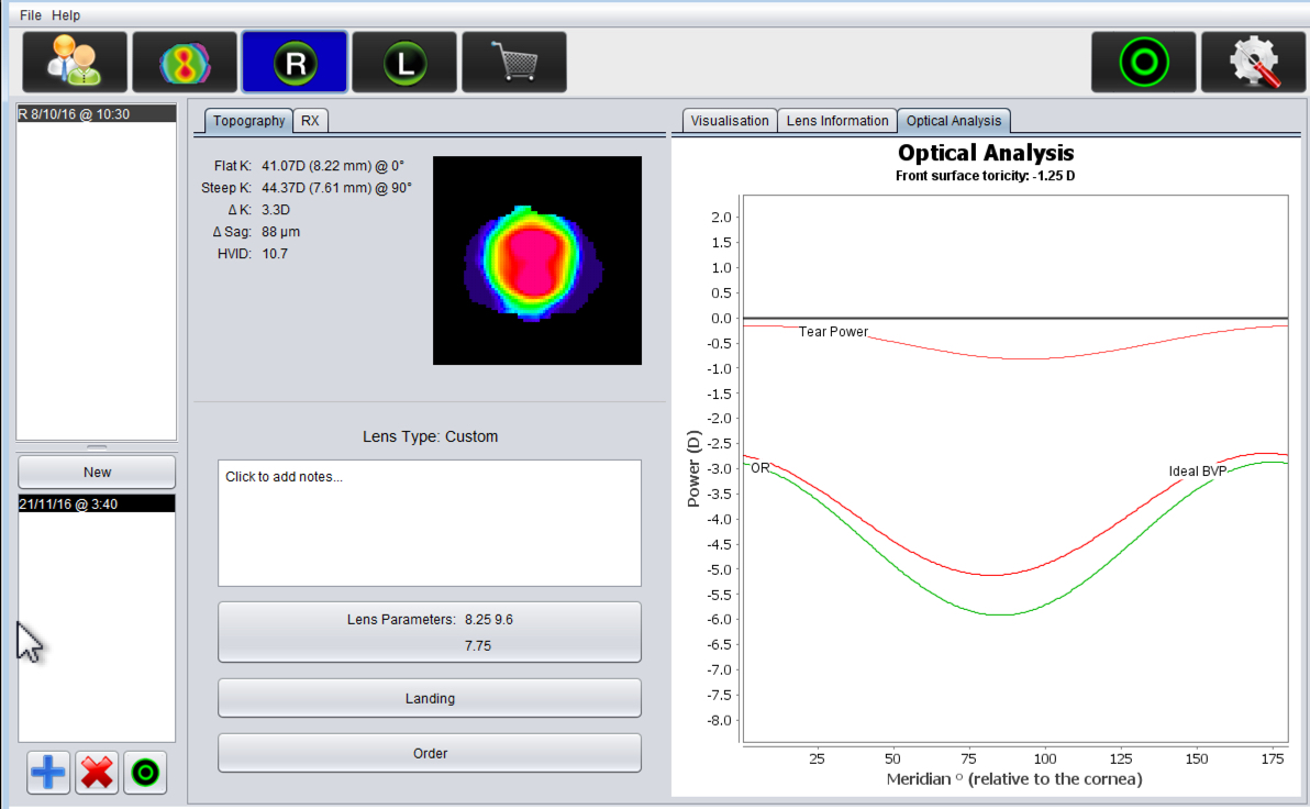 Image of EyeSpace Optical Analysis Page